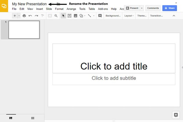 Blank Google Slides Presentation