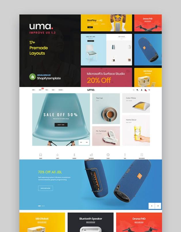 Uma - Multipurpose Best Shopify Themes