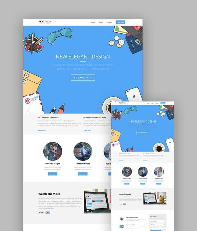 Flatpack Modern Landing Page Template