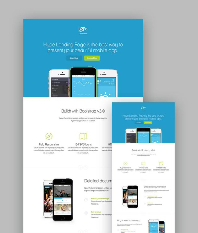 Hype Material Landing Page Template