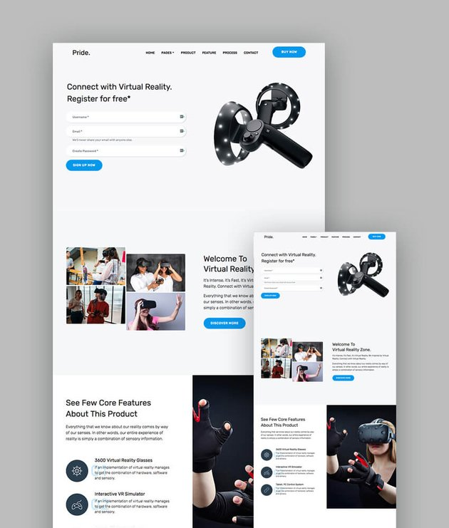 Pride landing page template