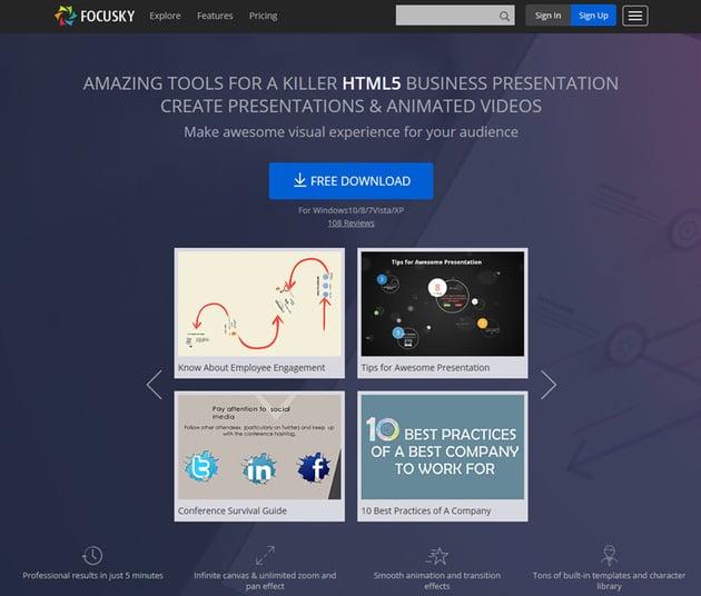 Focusky presentation tool