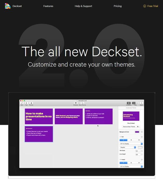 Deskset Mac presentation software