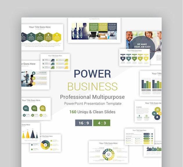 Power Professional Business PowerPoint Presentation Template