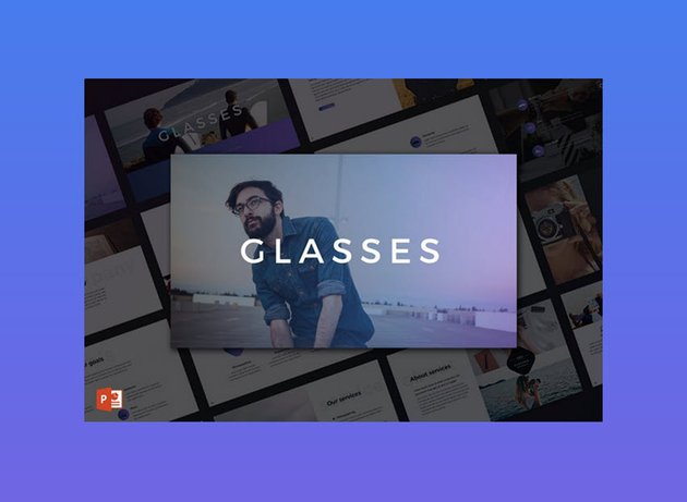Glasses -- Really Cool PowerPoint Template