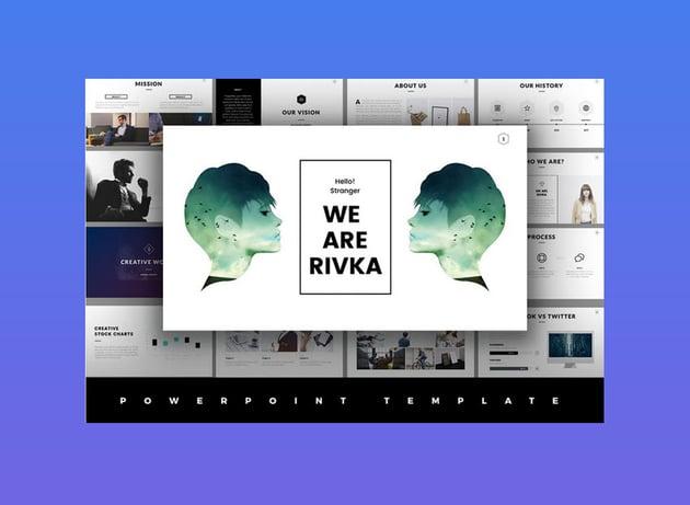 Rivka Minimal Cool PowerPoint Template