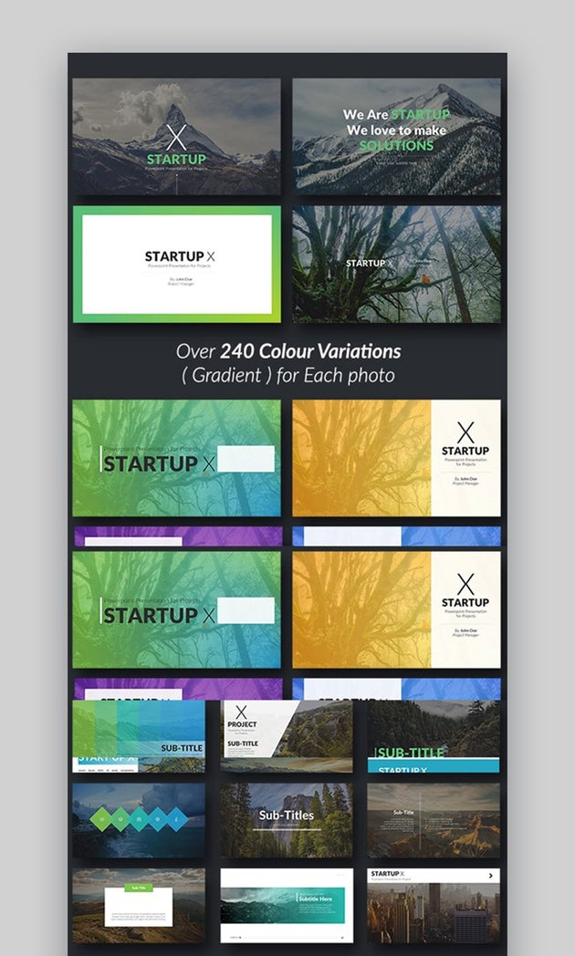Startup X Pitch Deck PowerPoint Template