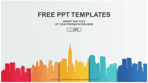 City Buildings and Colors Download Tema PPT Gratis