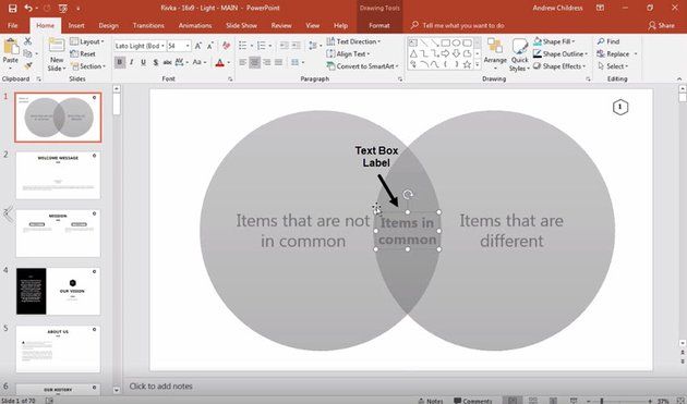 PowerPoint Venn Diagram after labeling