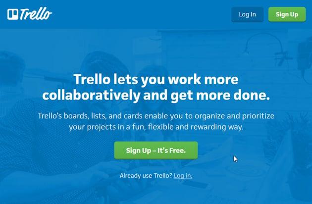Trello project management