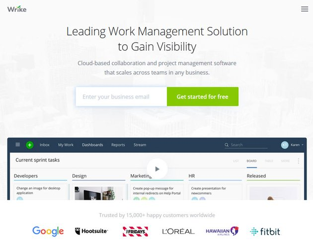 Wrike project management software