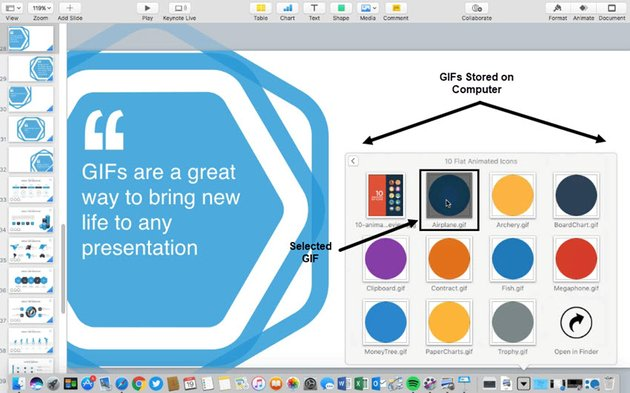 Select a GIF to add to your presentation