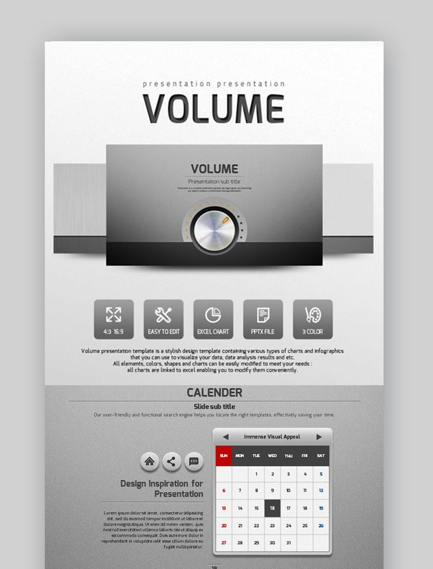Volume PowerPoint Template