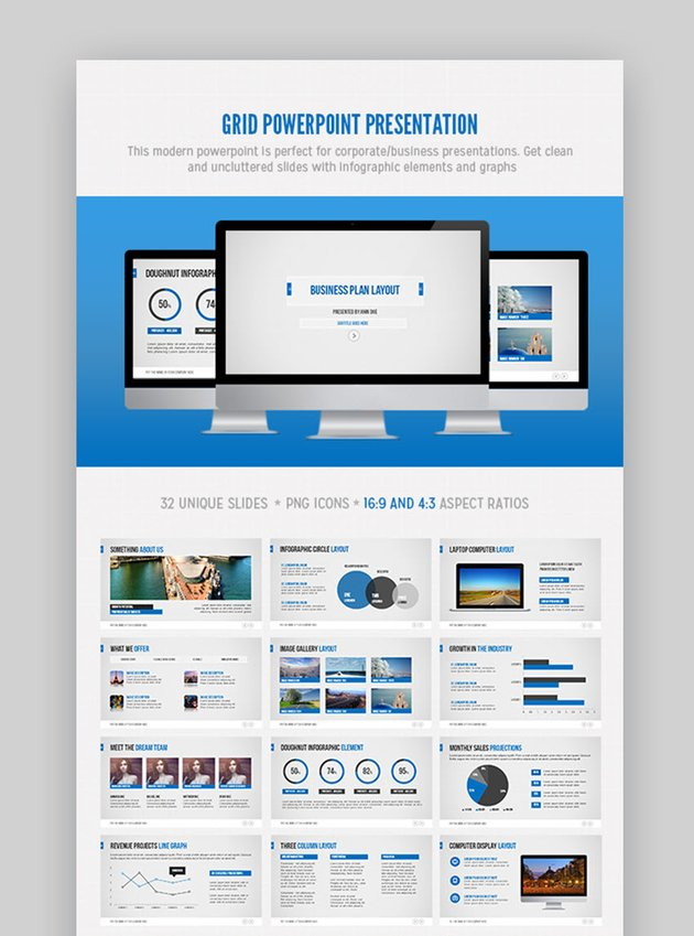 Grid PowerPoint Template