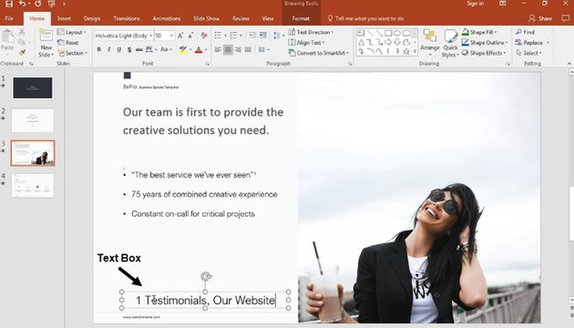 how to insert footnote in PowerPoint