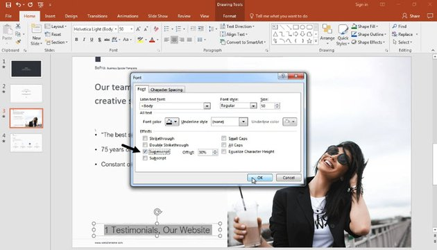 add footnote in PowerPoint