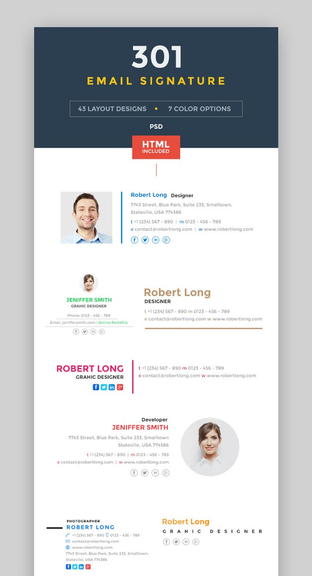 301 Email Signature Template
