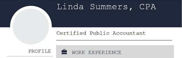 listing certification on name and header of resume