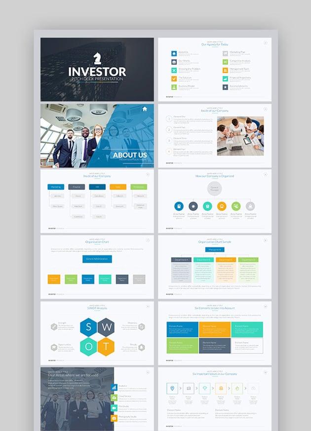 Investor Pitch Deck PowerPoint Design Inspiration Template
