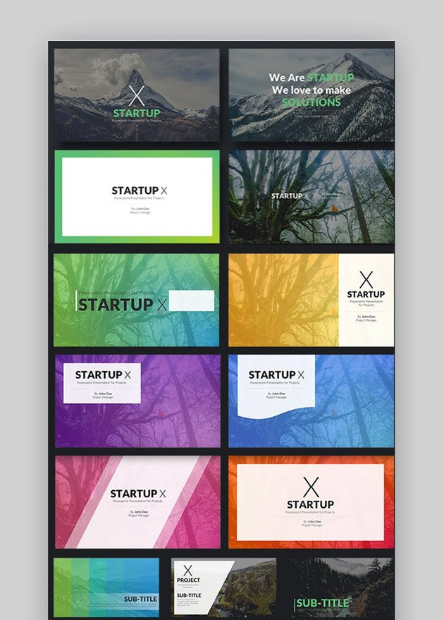 Startup X - Perfect Pitch Deck PowerPoint Inspiration Template