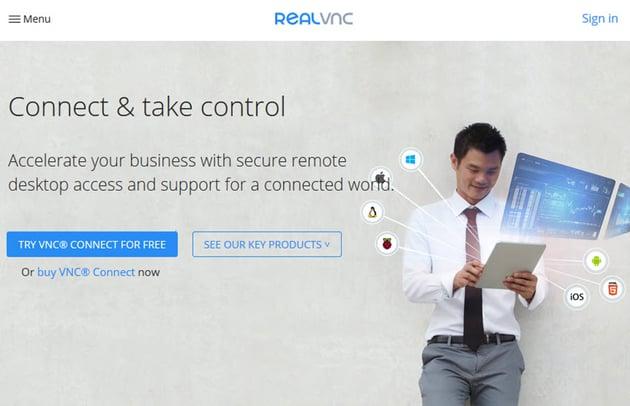 VNC Connect remote desktop access
