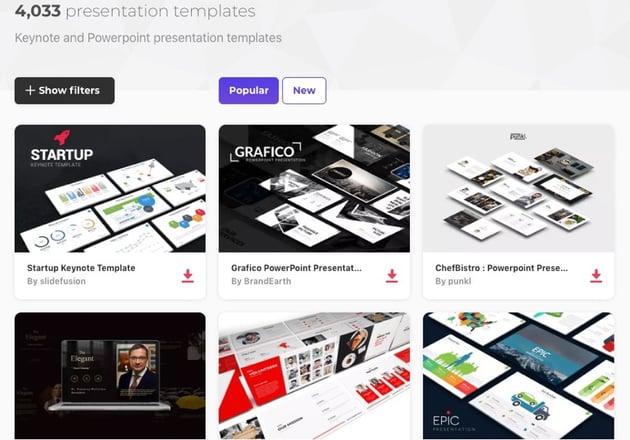 Presentation Templates on Envato Elements