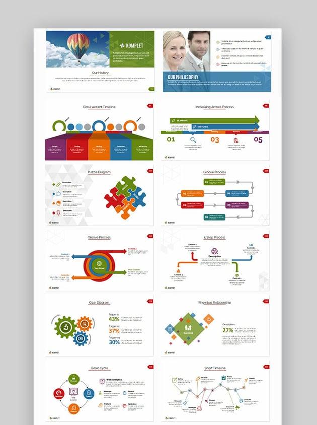 PowerPoint flowcharts in Komplete template
