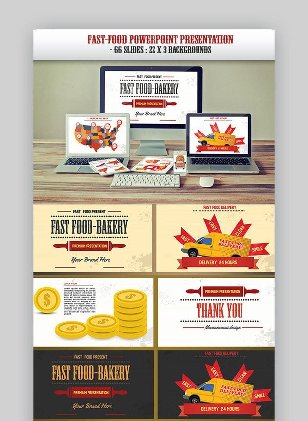 Fast Food PowerPoint Presentation Template