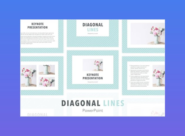 Diagonal Lines PowerPoint Template