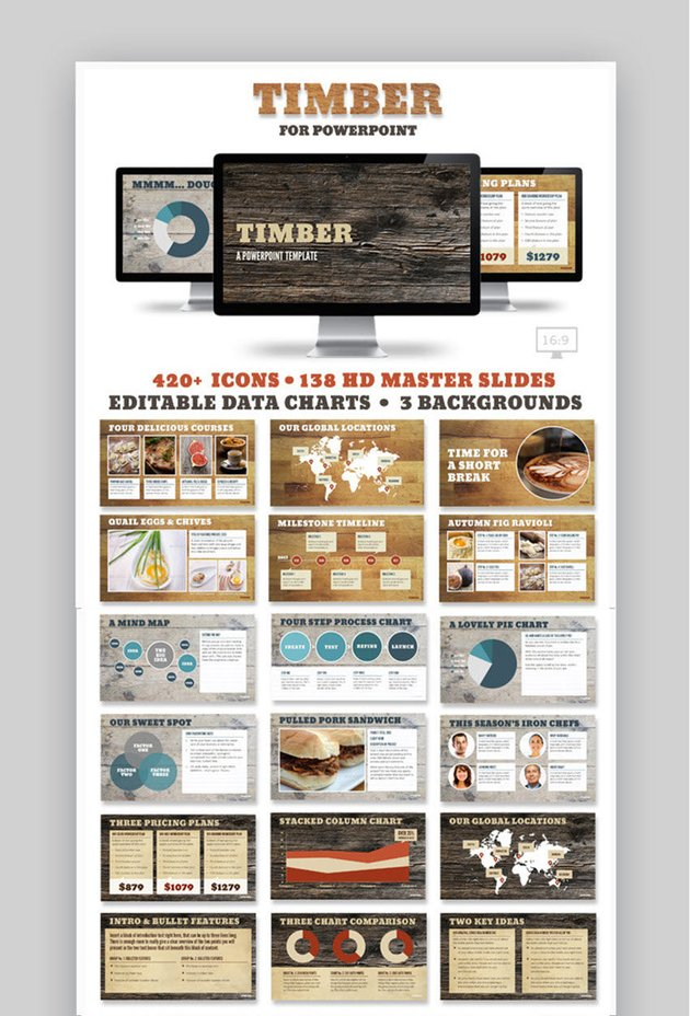 Timber PowerPoint Backgrounds