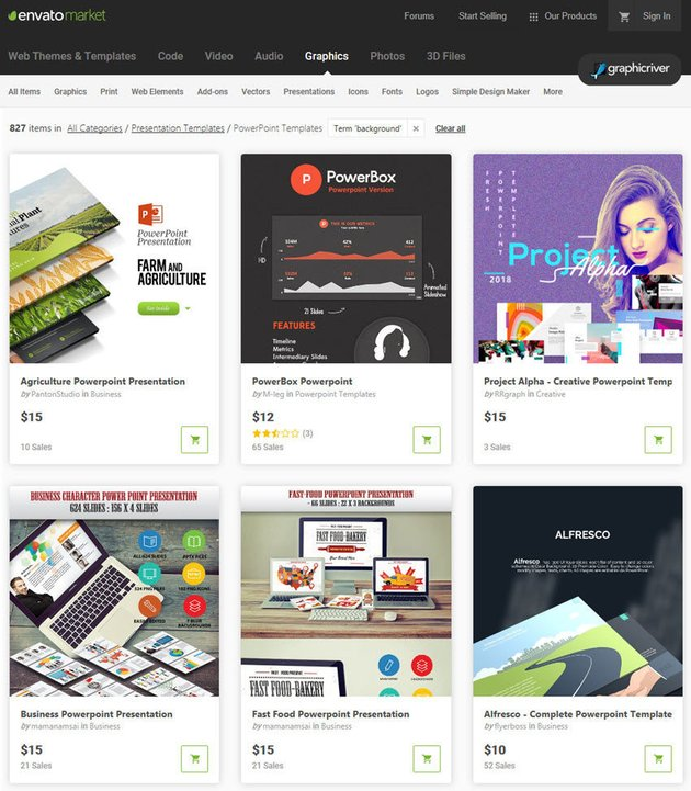 GraphicRiver PowerPoint background templates