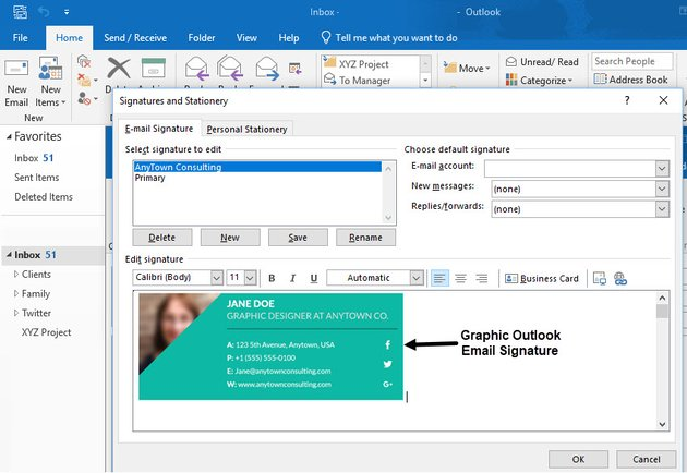 Outlook tip email signature
