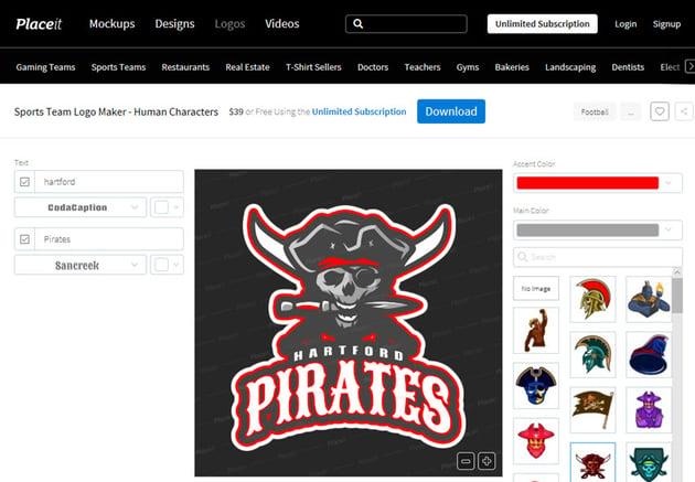 Sports Team Logo Maker - Human Characters