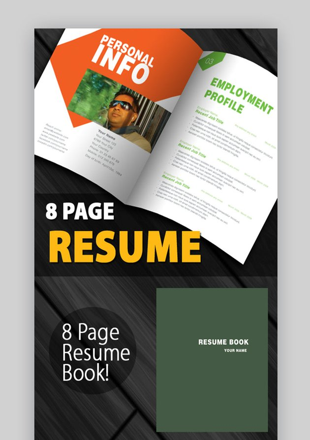 Clean and Creative Resume Book - Visual Resume CV Template