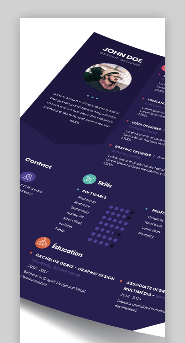 Clean and Modern Resume CV - Visual Resume Template