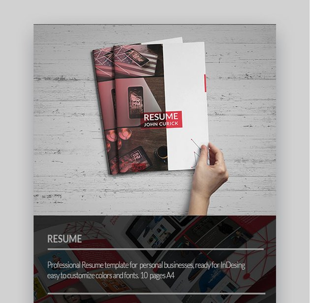 Creative Resume Awesome Visual Resume Template
