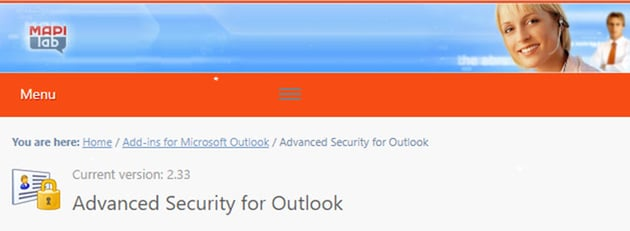 Advanced Security Microsoft Outlook Add-In