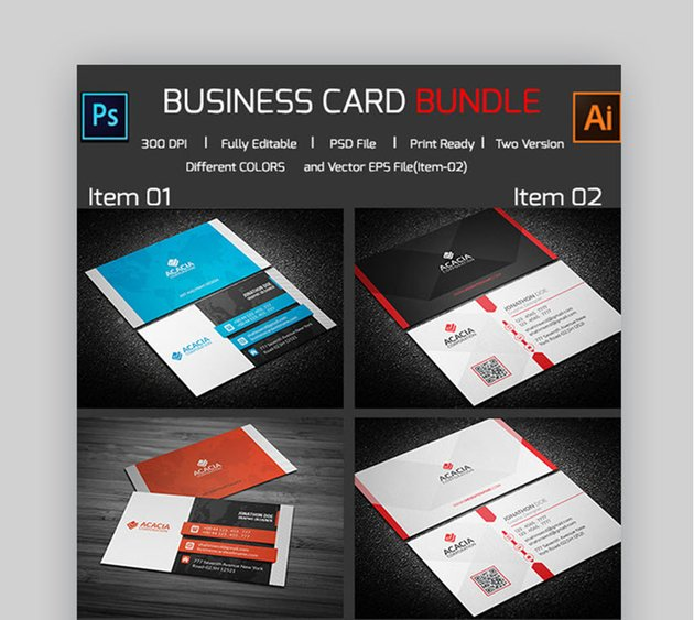 2 in 1 Professional Business Cards