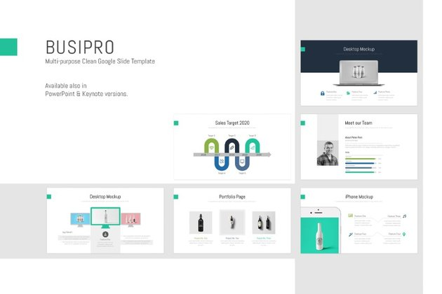 BusiPro is a simple infographic presentation template