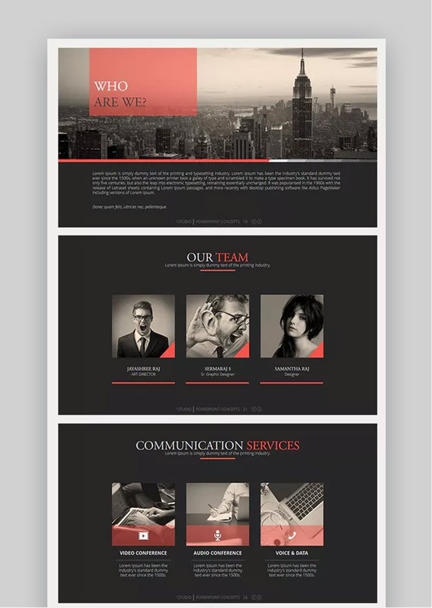 Axis business organizational template