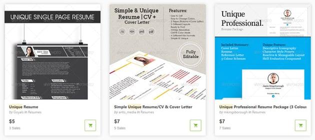 GraphicRiver Innovative Resume Templates