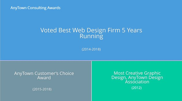 Awards slide with premium template