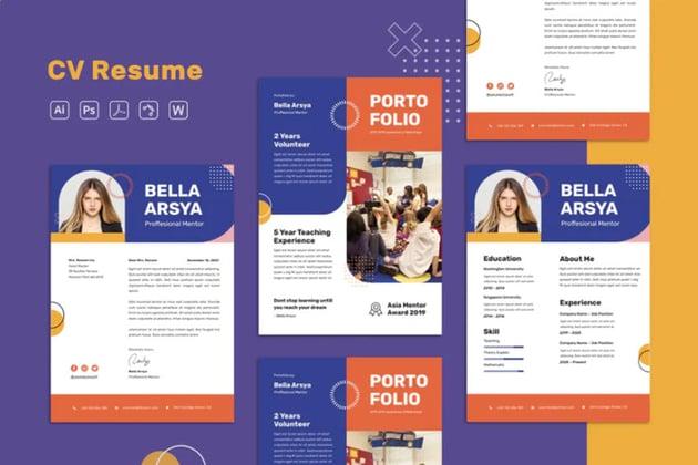 resume template illustrator