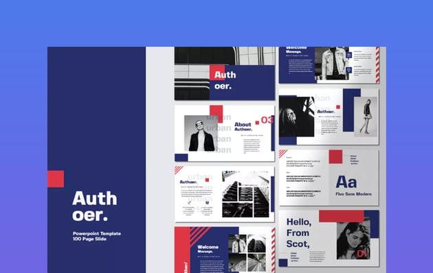 Authoer Modern Simple Presentation Template