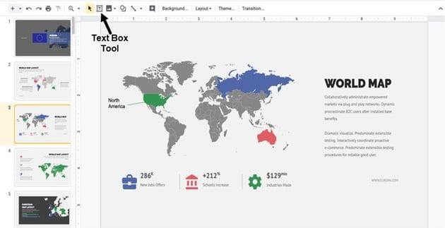 adding a text box to map presentation