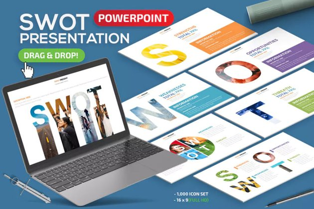 SWOT Presentation Infographics PPT