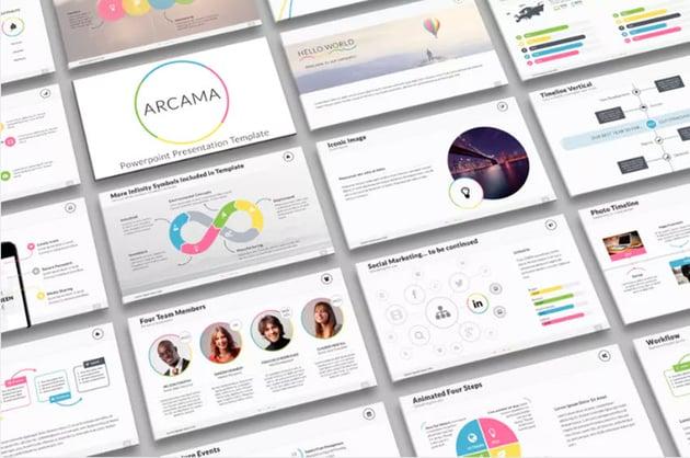 Arcama PowerPoint flowchart template