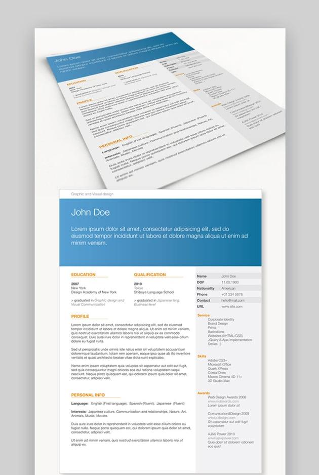 Get Minimal - Minimalistic CV Resume Template