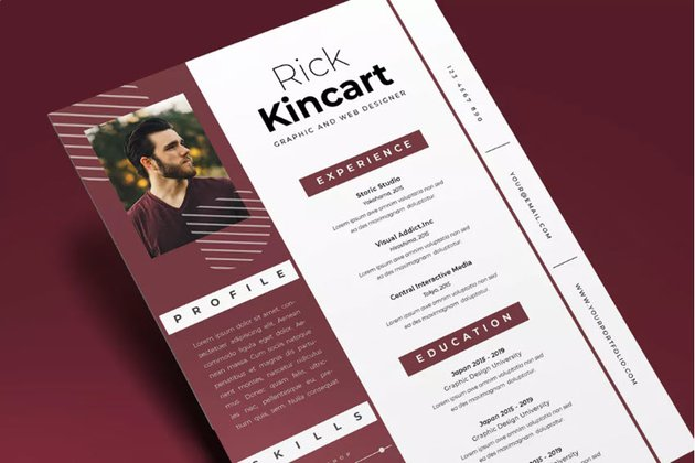 Attractive Resume from Envato Elements