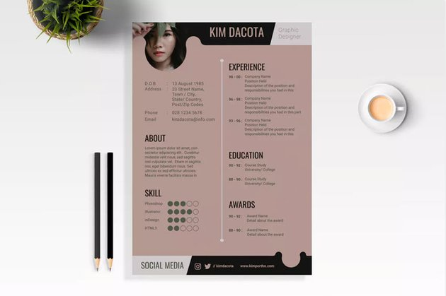 Quick ResumeCV Template with Tasteful Color Palette